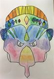 "Sophia Lauck, 5th grade, ""Masks of Nepal"""