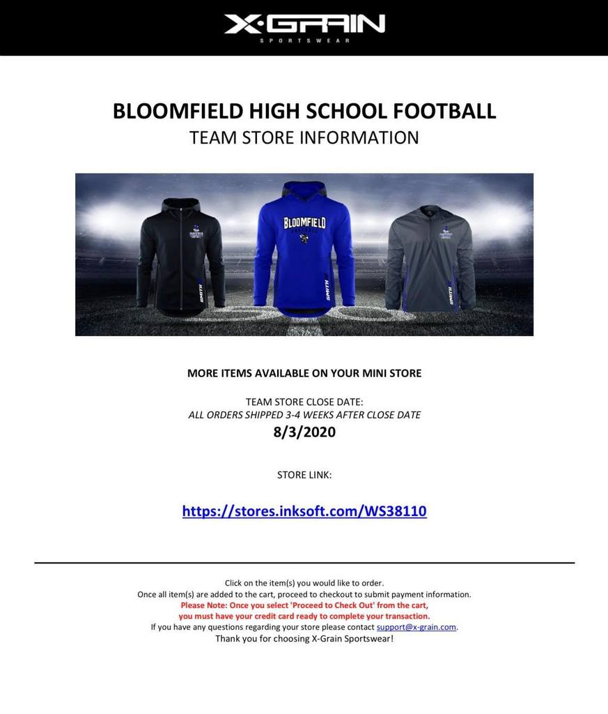 Football Hoodies with the date of the store closing August 3rd. Orders will be shipped 3-4 weeks after closure. The link is on the picture.